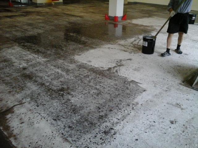обеспыливание бетона от компании Базис